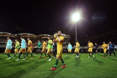 Socceroo Bailey Wright after eliminating Manchester United
