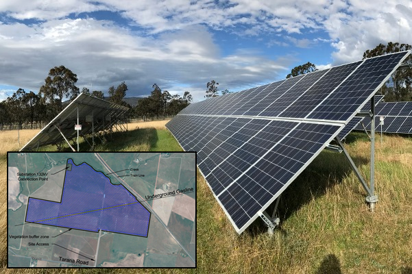 Article image for 200 hectare solar farm to be built on prime agricultural land