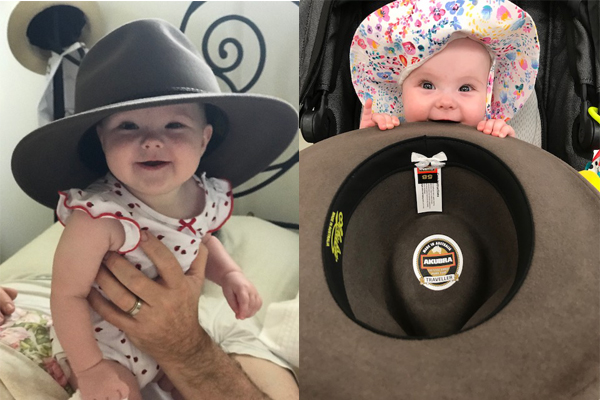 Article image for Adorable Aussie Akubra baby