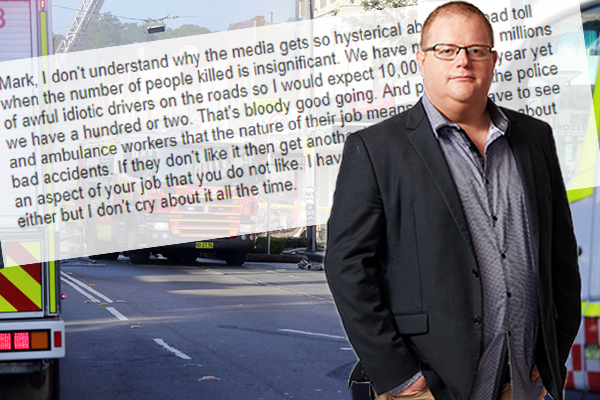 Article image for Listener says first responders should 'stop whingeing' about horror road toll