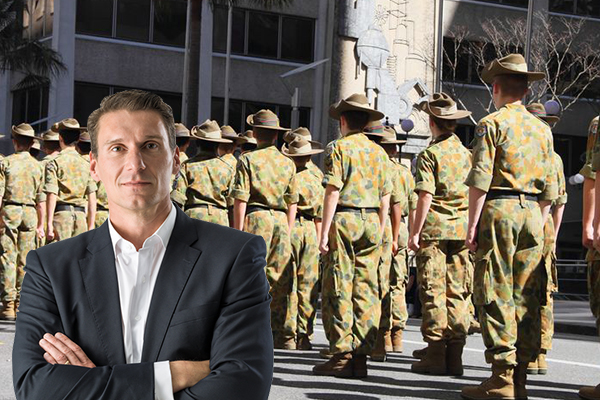 Article image for Cory Bernardi says women shouldn't be serving on the front line