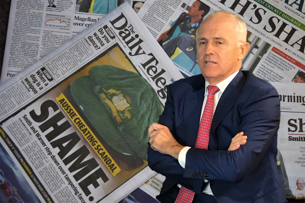 Article image for Has the ball tampering scandal saved the Prime Minister?
