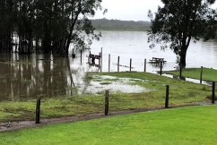 PHOTOS   River close to breaking its banks after torrential rain