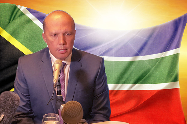 Article image for Dutton slams ABC and 'crazy lefties' over white farmer criticism