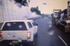 VIDEO | Idiotic driver plays chicken with a truck