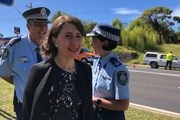 Article image for Alleged drug driver crashes police road safety launch