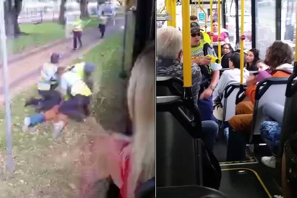 Article image for EXCLUSIVE   Man tasered on bus has HUGE criminal record