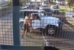 Man pulls out a chainsaw during road rage brawl