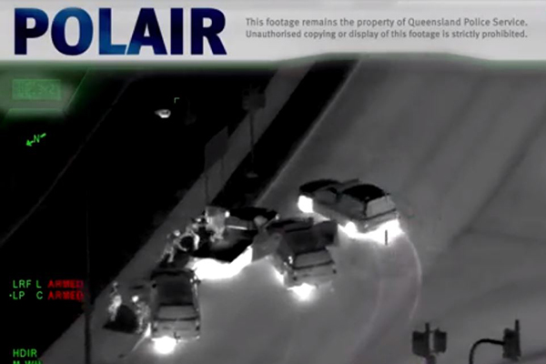 Article image for WATCH | Helicopter footage shows dramatic police pursuit