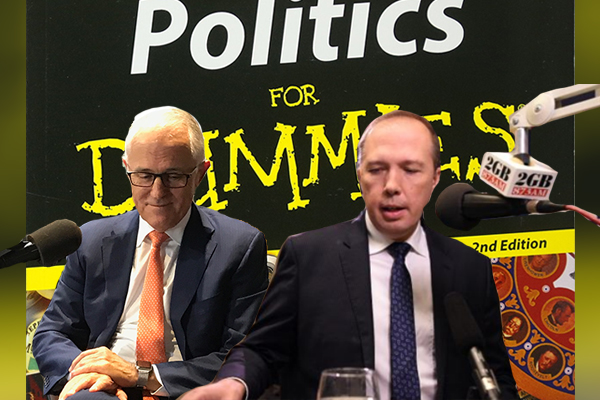 Article image for BUSTED | Dutton and Turnbull reading from the same cheat sheet