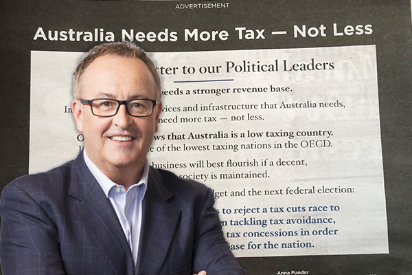 Article image for This unbelievable ad is calling for more taxes