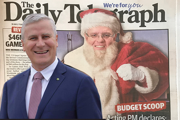 Article image for Acting PM refuses to retract Santa Claus 'goodie bag' comments