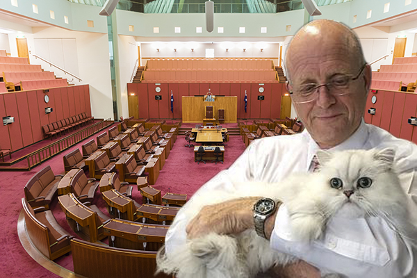 Article image for Rogue senator masterminding legislation boycott until he gets what he wants