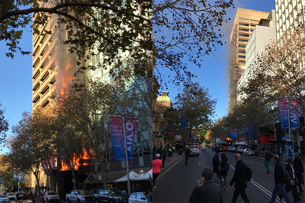 Article image for Huge blaze breaks out at CBD high-rise