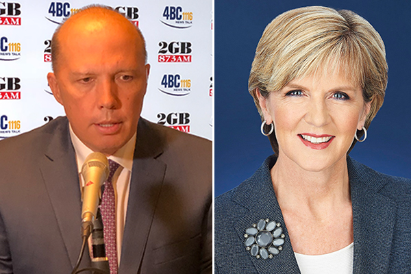 Article image for Dutton rejects claims he's feuding with Julie Bishop