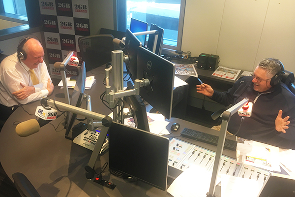 Article image for Ray Hadley gets into a charity auction bidding war with Alan Jones' money