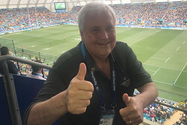 Article image for Clive Palmer funding sponsorship deals, still owes workers thousands