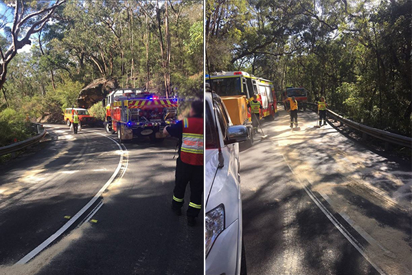 Article image for UPDATE | Truckie fined over Galston Gorge chaos