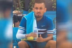 Nick Kyrgios slapped with $23,500 fine for imitating sex act on live television