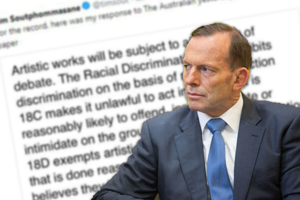 Article image for Tony Abbott: 'It's only left-wingers whose rights are protected'