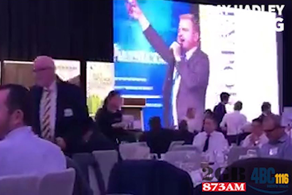 Article image for WATCH | TV presenter goes on foul-mouthed rant while hosting charity event