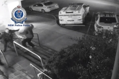 Shocking CCTV footage shows man allegedly attacking police with a knife