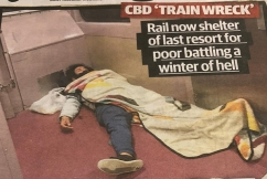 'Compassion demands we do something', homeless forced to sleep on trains
