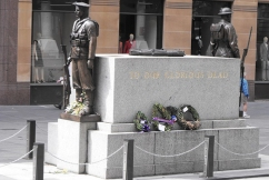 Drunken disgrace: Man defaces the Martin Place cenotaph
