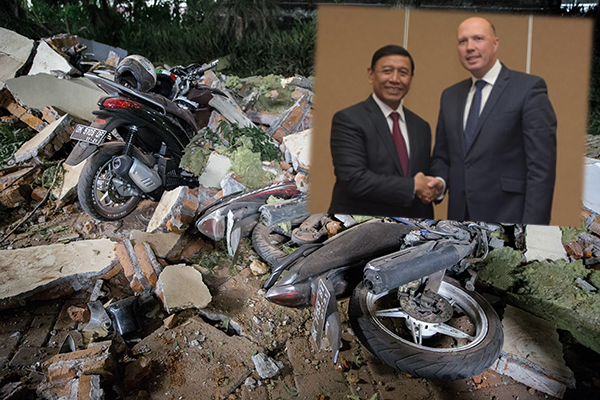 Article image for Peter Dutton 'lucky to get out' of deadly Indonesian earthquake