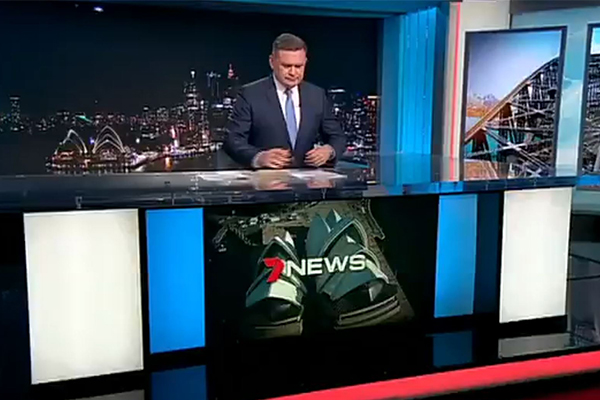 Article image for Sydney meteor steals the show as presenter reads live news