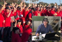 Chris Smith broadcasting from drought-ravaged Forbes