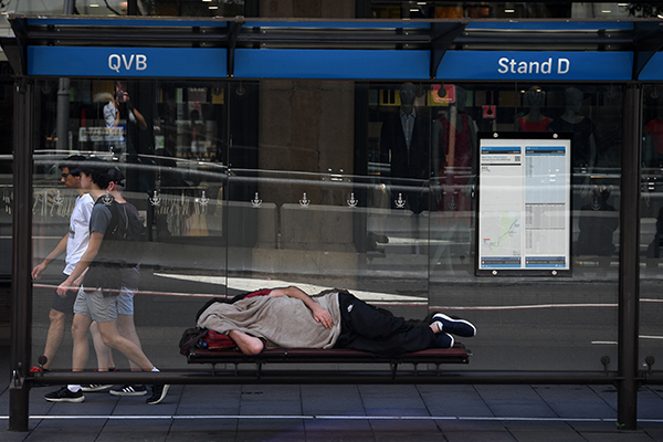 Article image for Homeless crisis outside QVB needs to be tackled 'head on'