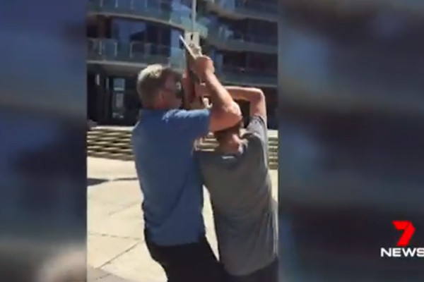 Article image for WATCH | Sam Newman responds to confrontation with skateboarders
