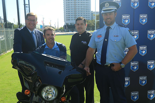 Article image for Blues coach Brad Fittler back on his bike, all for an incredible cause