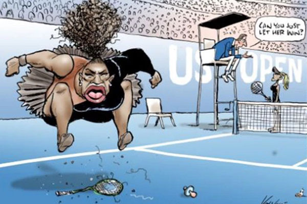 Article image for Australian Press Council hands down ruling on controversial Serena Williams cartoon