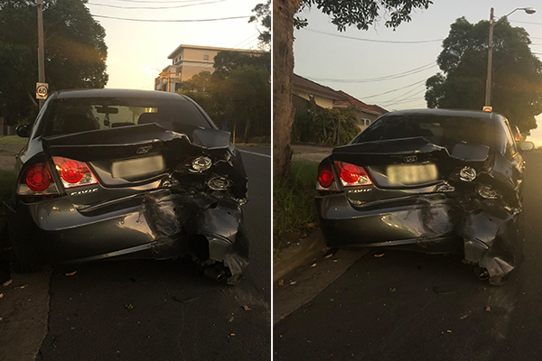 Article image for Driver abandons car and unconscious passenger after crash at Yagoona