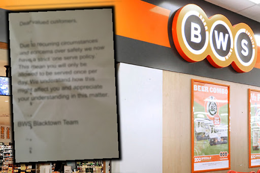 Article image for UPDATE | Woolworths takes down bottle shop's strange new policy