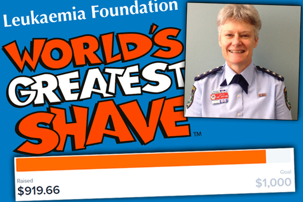 Article image for Female cop shaves head for charity after Ray's listeners stump up the cash