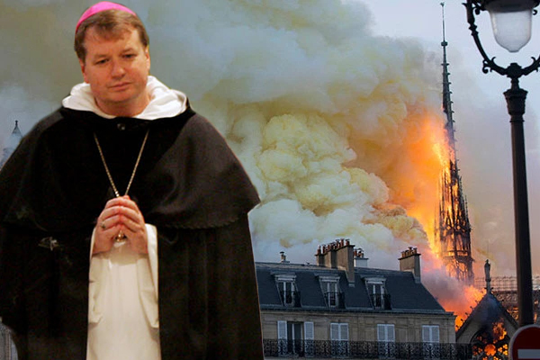 Article image for 'We won't give in to such evil': Archbishop hints Notre Dame fire may have been deliberate