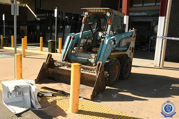 Article image for Thieves use bobcat in daring ATM robbery