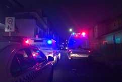 Manhunt underway after double shooting