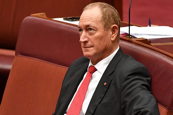 Article image for Senate officially censures Fraser Anning over Christchurch comments