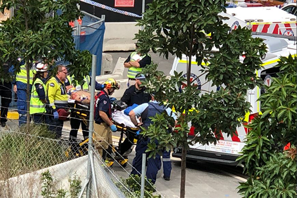 Article image for One dead, another critically injured after scaffolding collapse