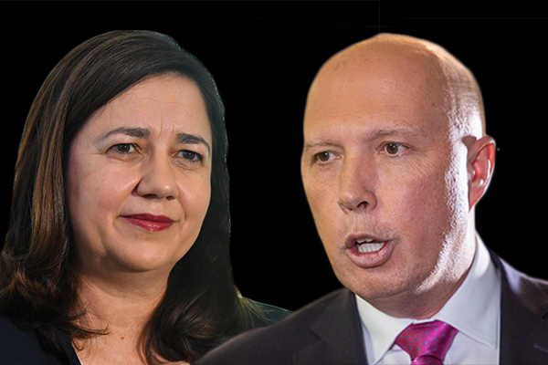 Article image for 'She's got all the sincerity of Bill Shorten': Peter Dutton's question for Annastacia Palaszczuk
