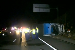 Major M1 delays after truck driver killed in crash at Asquith