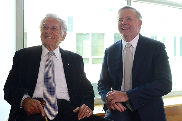 Article image for 'I was incredibly humbled': Anthony Albanese remembers Bob Hawke's generosity