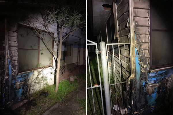 Article image for WATCH | Toongabbie home set alight while residents sleep