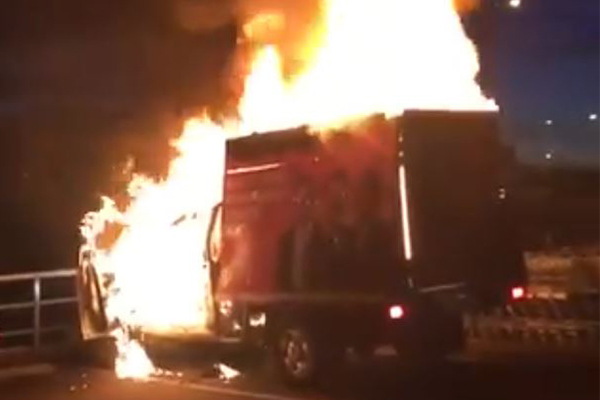 Article image for One Nation truck torched in post-election attack