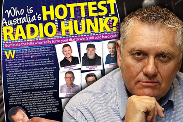 Article image for Ray Hadley's bizarre plan of attack for the 'Hottest Radio Hunk' awards