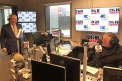 Alan joins Ray in studio to celebrate 2GB's 15th year at number one